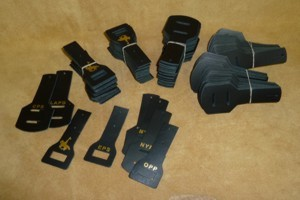 Leather Epaulette Police Mic Holders
