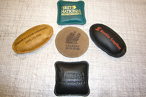 Assorted Styles of Leather Paper Weights