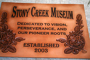 Leather Sign Hand Carved and Laser Engraved